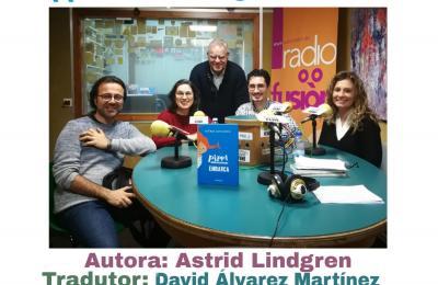 David Álvarez no club de lectura de Radio Fene Radiofusión