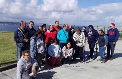 Aspaneps na depuradora de Punta Avarenta (Chanteiro Ares)