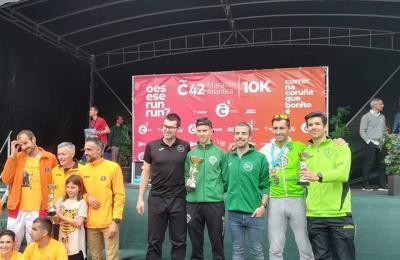 Clube Atletismo Fene, campión de clubes no campionato galego de maratón
