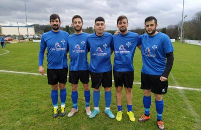 De esquerda a dereita, Garecho,Pereiro, Germán, Brais e Caruncho