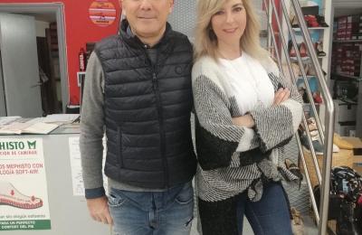 Ramón Dominguez (O Cruceiro) e Ana Basoa, concelleira de Promoción Económica de Fene