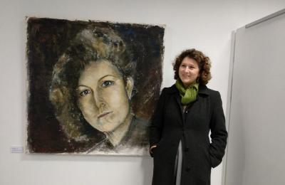 Laura Bouza e o seu autorretrato