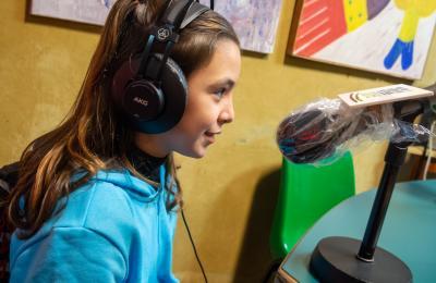 Noa Pazo en Radio Fene. Decembro de 2020