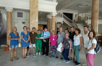 Placa da Agrupación Instrutiva de Caamouco á Federación de Sociedades Galegas en Cuba