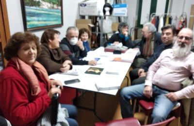 Integrantes do grupo de teatro da Tenencia de Caamouco