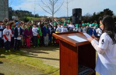 O colexio Os Casais do Día da Árbore. 16 marzo 2017.