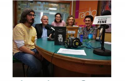 Amauta Castro no clube de lectura de Radio Fene Radiofusión