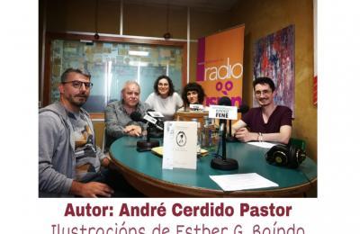 André Cerdido no clube de lectura de Radio Fene Radiofusión