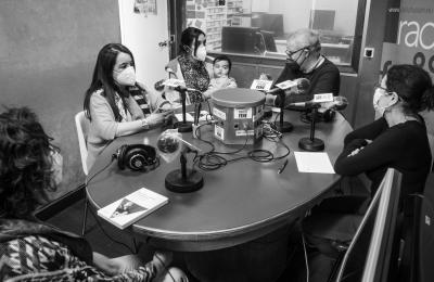 Marilar Aleixandre e María López Sández en Radio Fene