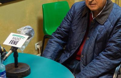 Xosé Luís Axeitos en Radio Fene. Maio de 2021