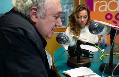 Antonio Tizón, nos estudios de Radio Fene