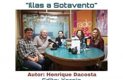 Henrique Dacosta no club de lectura de Radio Fene Radiofusión
