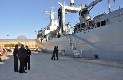 Despedida do buque Cantabria. Ferrol, 16 de outubro de 2018
