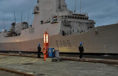A fragata Cristobal Colón en Ferrol