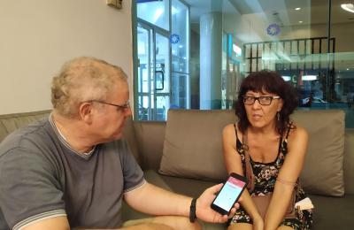 Arantxa Fernández Crespo conversa con Henrique Sanfiz
