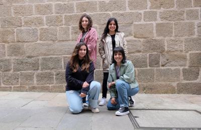 Maite Martinez, Clara Miñán, Laura e Coral Piñeiro