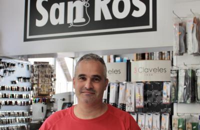 Marcos Sánchez no mostrador de San Ros