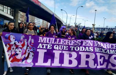 Manifestación feminista na Coruña