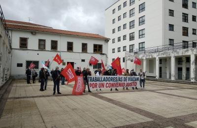 Manifestación de Viaqua en Fene