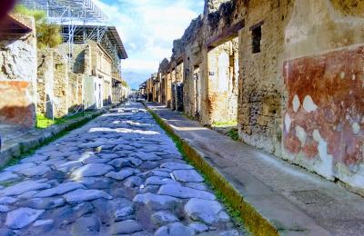 Unha rúa en Pompeia. 2017