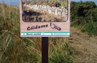 Cartaz no monte Marraxón. Sillobre. Fene