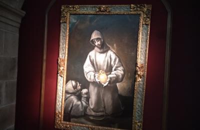 San Francisco de Asís e o irmán León. Greco. Monforte de Lemos