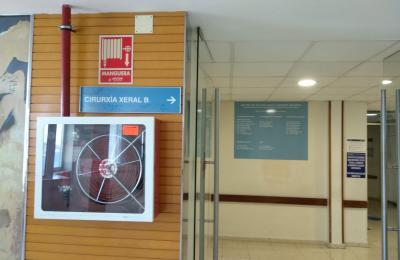 Interior do CHUAC.  A Coruña.