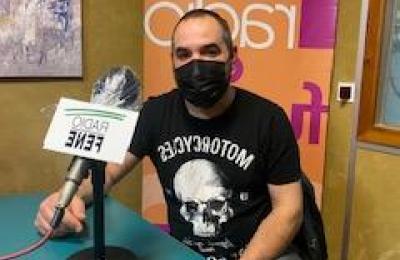 """Luis López """"Luigi"""" impulsor da plataforma de hostalería e taxistas de Fene"""