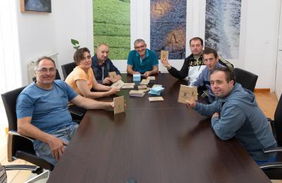 Centro ocupacional de Aspaneps co alcalde de San Sadurniño