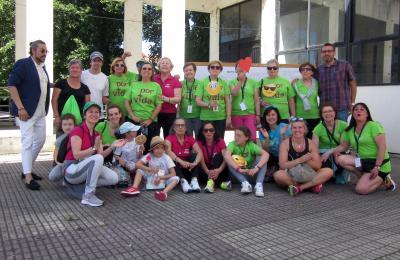 Participantes na andaina da asociación Por Mäis Vida. Fene. 2018.