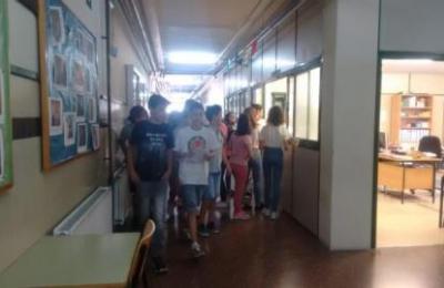 Arquivo Radio Fene. Interior do IES de Fene
