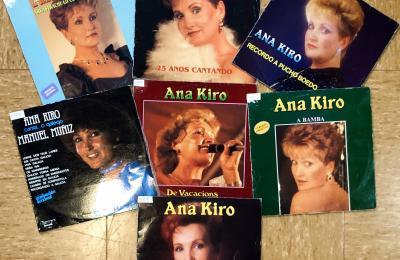 Vinilos da cantante Ana Kiro