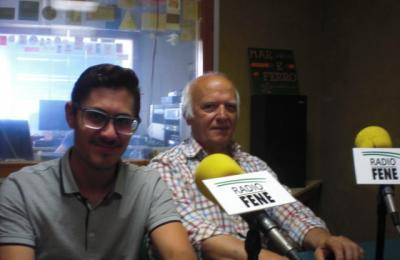 Daniel García e Ernesto López, directivos da Agrupación Instrutiva de Caamouco