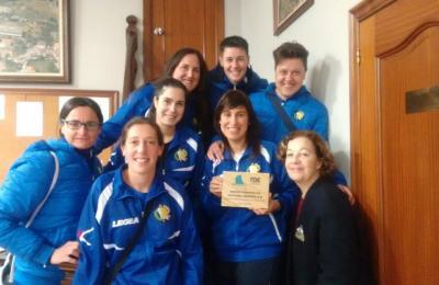 Cultural Maniños. Liga feminina de fútbol oito