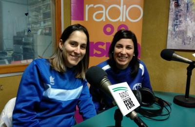 Lucía Seoane e Mónica Martínez, xogadoras do Cultural Maniños