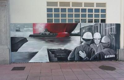 "Mural de Ito Mosquera. San Valentín ""Mar e ferro"""