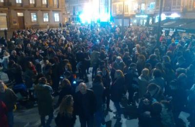 Mulleres pola igualdade. Ferrol, 15 de xaneiro de 2019.