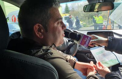 Jesús Raso, coordenador de seguridade do rali da Coruña