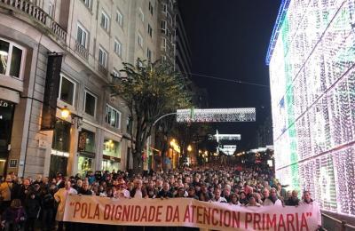 Manifestación en Vigo en defensa da sanidade pública