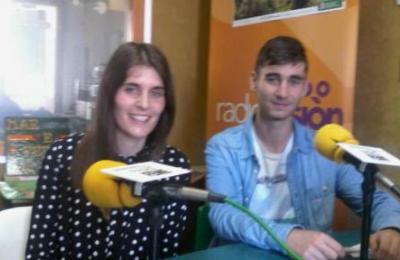 Laura e Bruno Aneiros da comisión de festas de Sillobre