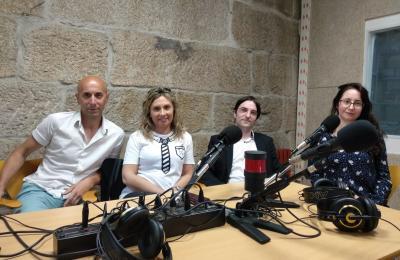 Kiko da Silva en Radio Redondela con Carlos Sardiña, Tatty Lavandeira e Lorena Otero