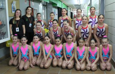 Nadadoras do Club Sincro Ferrol