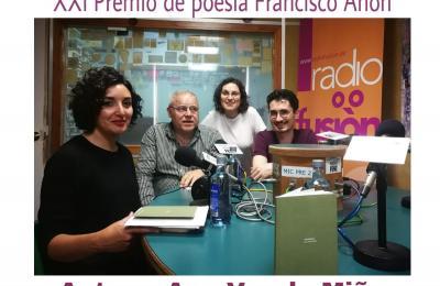 Ana Varela no Clube de lectura de Radio Fene Radiofusión