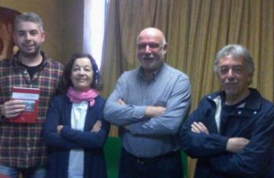Carlos e Wenceslao do grupo Os Zares, con Pitusa Arias e Sergio Noche